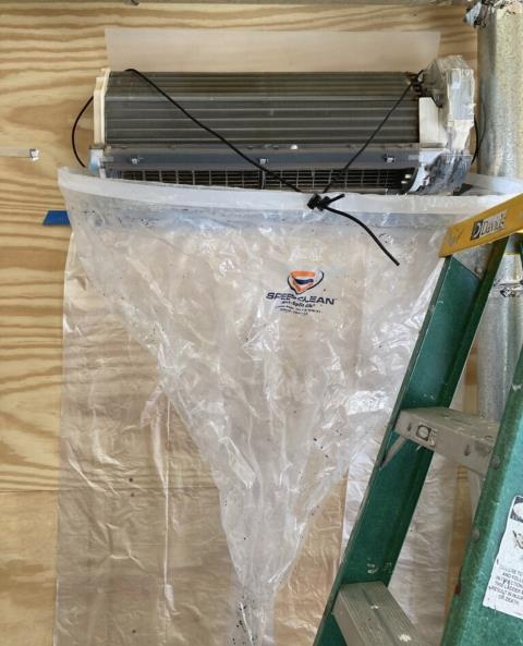 Smithville, TX - Ductless mini split system. Clean the Mitsubishi ductless mini split system. The air conditioner is cooling properly at this time,.