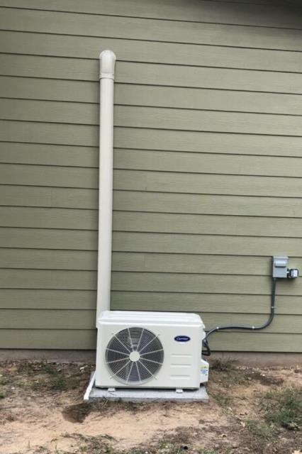 Mini Split System. Install a new Carrier mini split system. The air conditioner is working properly at departure.
