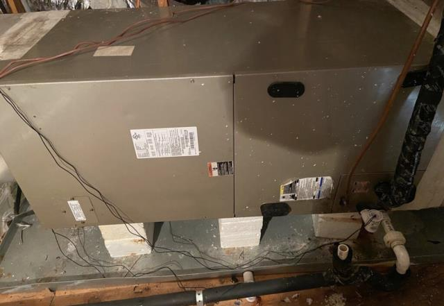 AC maintenance. Perform maintenance on the air handler. The air conditioner is cooling properly at this time.