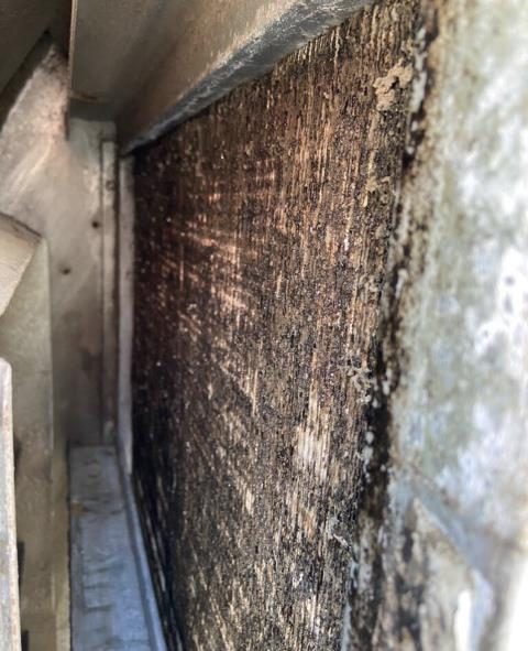Commercial ac maintenance. The rooftop system is extremely dirty. Clean the ac system. The air conditioner is cooling properly at this time.