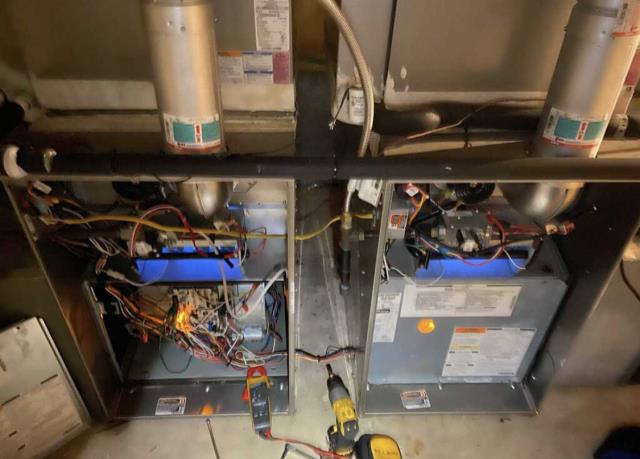 Smithville, TX - Furnace Repair. Perform heating evaluation on furnaces. The systems are working properly at this time.