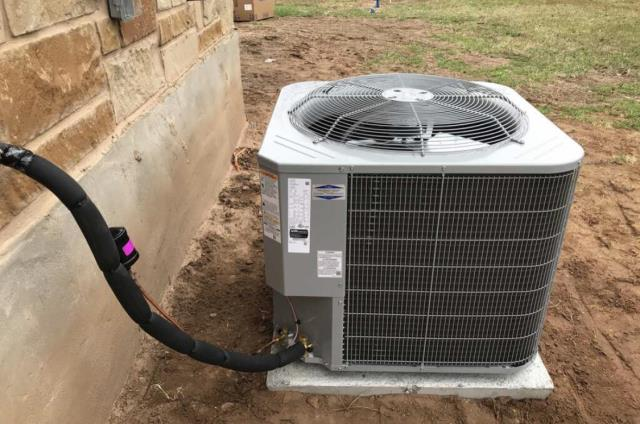 Bastrop, TX - AC installation. Install new Carrier AC system and check operations. The Carrier AC system is working properly at this time.