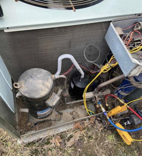 Cedar Creek, TX - Heating and cooling. Perform cooling evaluation on older Rheem system. Make repairs. The AC system is cooling properly at this time.