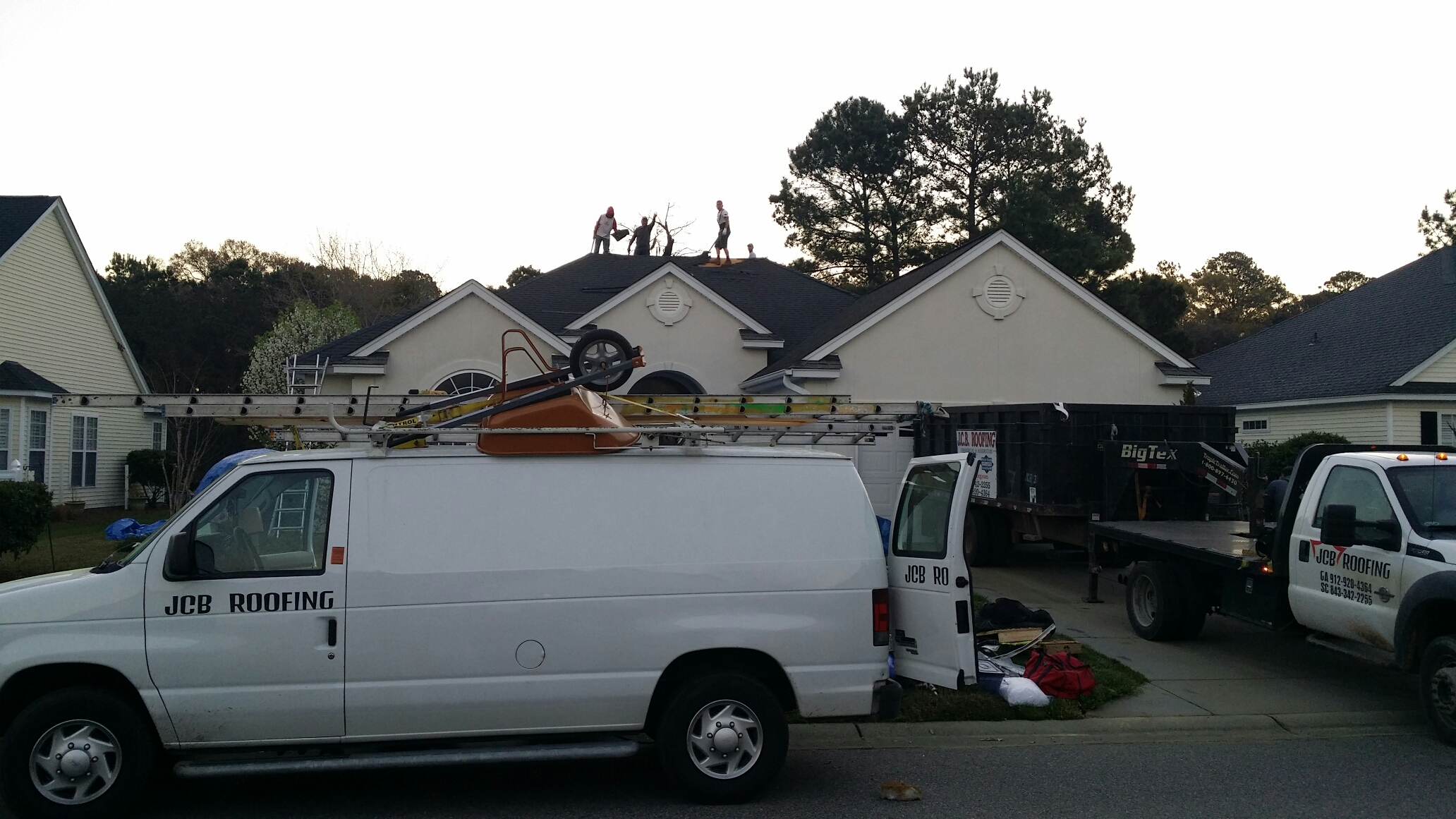 Pooler, GA - Reroof with gaf lifetime architectural shingles in hilton head
