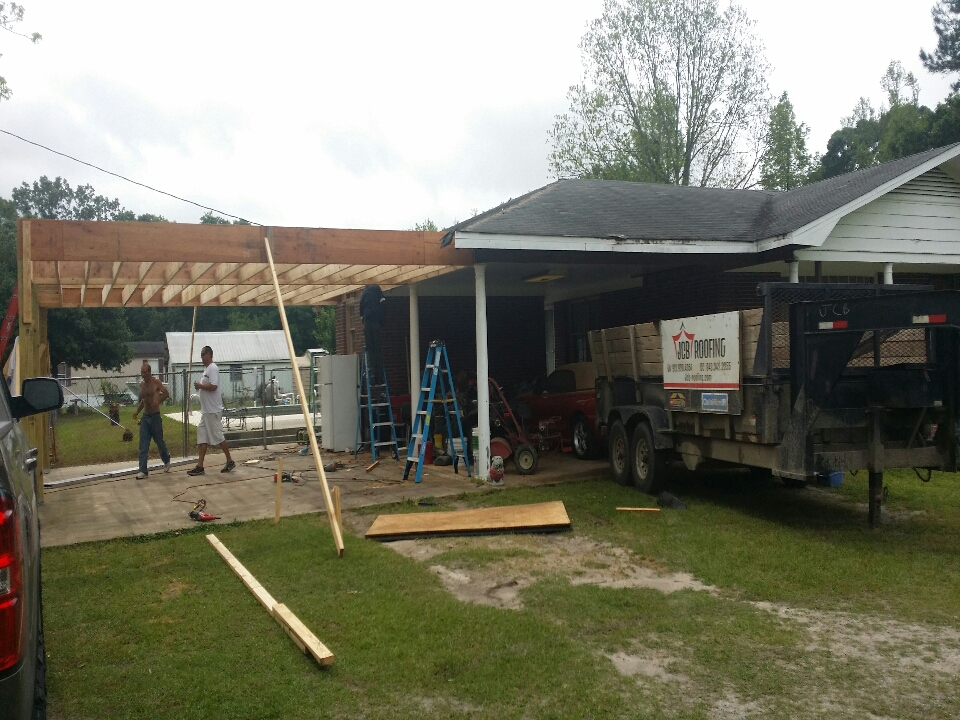 Pooler, GA - new carport construction and roof replacement
