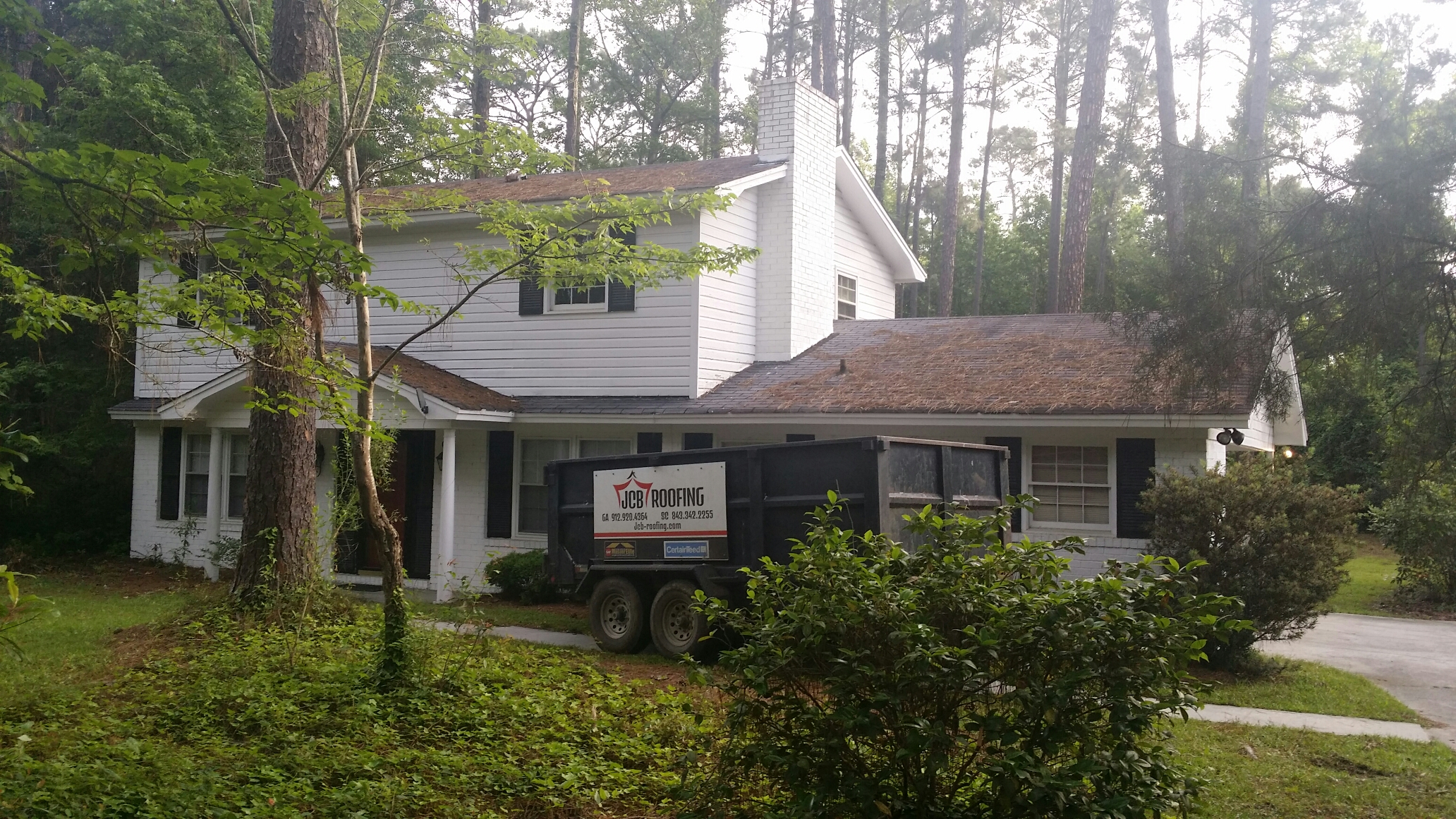 Statesboro, GA - Roof replacement in statesboro with certainteed lifetime architectural shingles