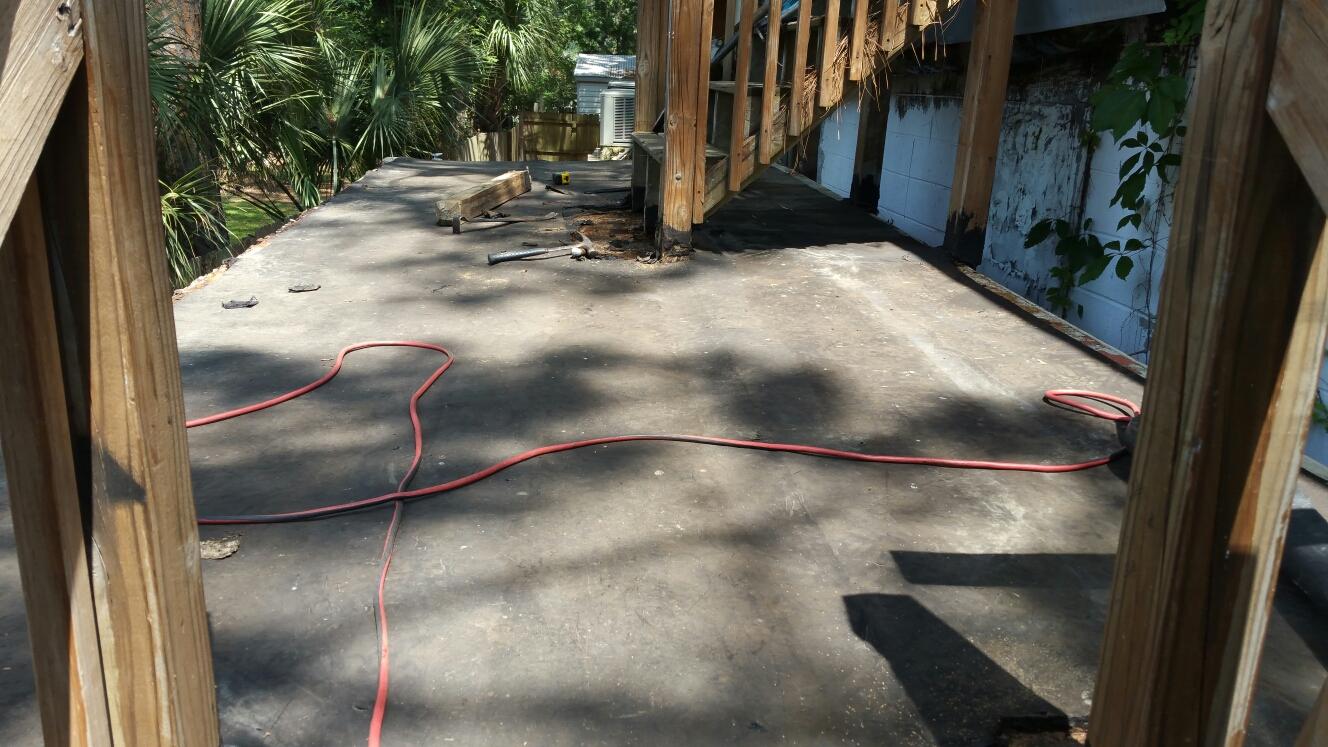 Tybee Island, GA - Flat deck replacement