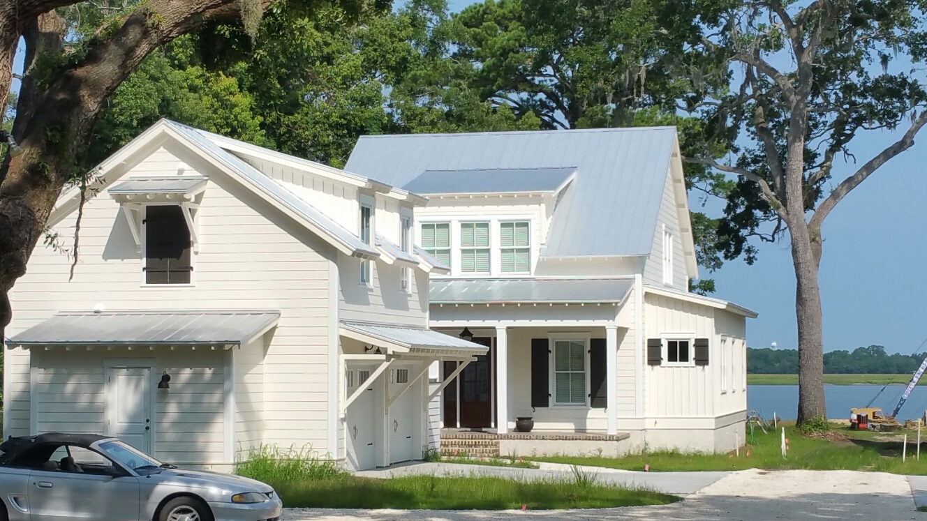 Wilmington Island, GA - Screw down metal roof on Wilmington island
