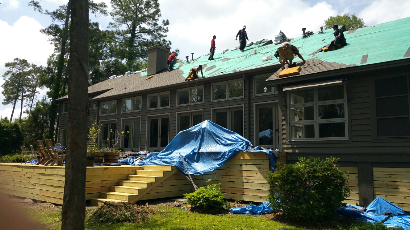 Hinesville, GA - New roof installation in hinesville by local roofing company jcb roofing