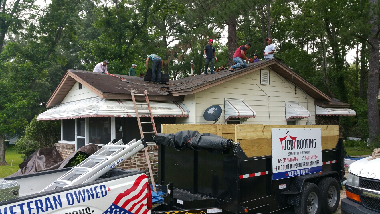 Wilmington Island, GA - New roof installation in savannah GA by local roofing company JCB ROOFING