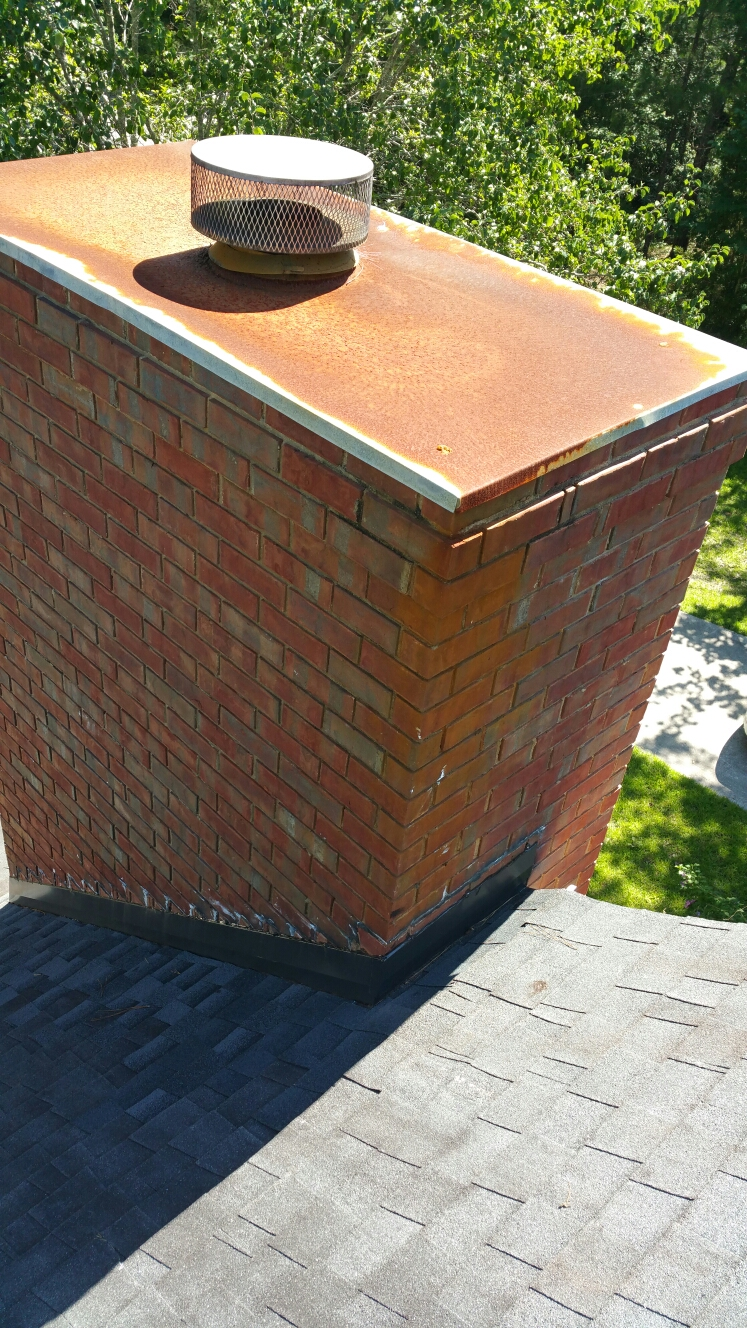 Pooler, GA - New chimney flashing and cap installation by local roofing company JCB ROOFING