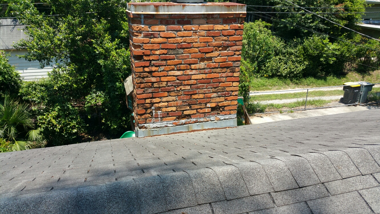 Savannah, GA - Chimney flashing inspection by local roofing company JCB ROOFING