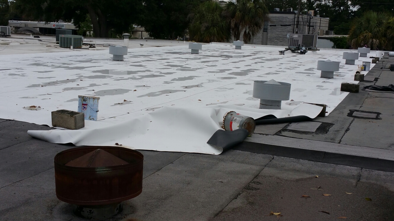 Savannah, GA - Flat roof installation in savannah GA by local roofing company JCB ROOFING
