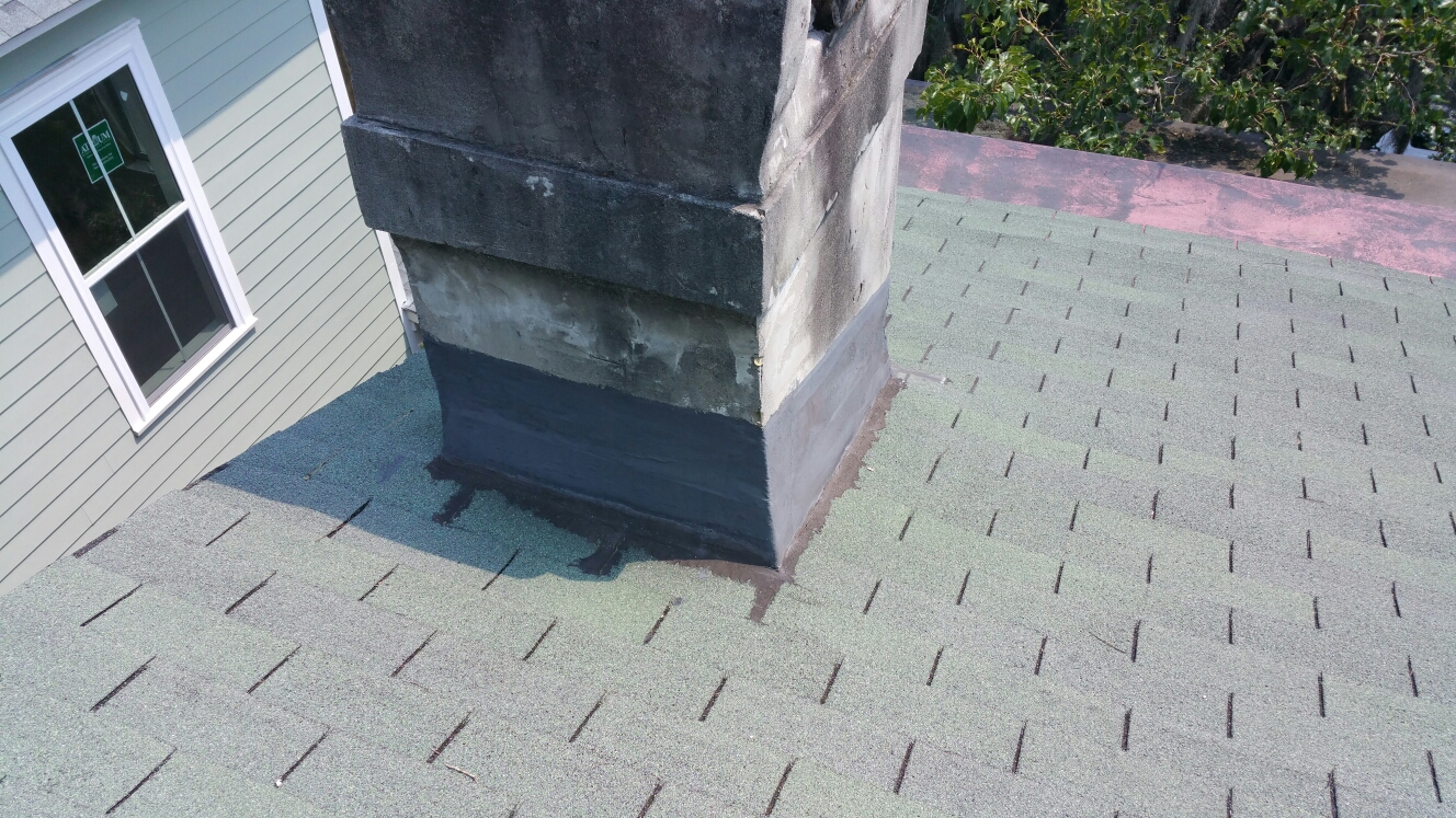 Savannah, GA - Chimney flashing in savannah GA by local roofing company JCB ROOFING