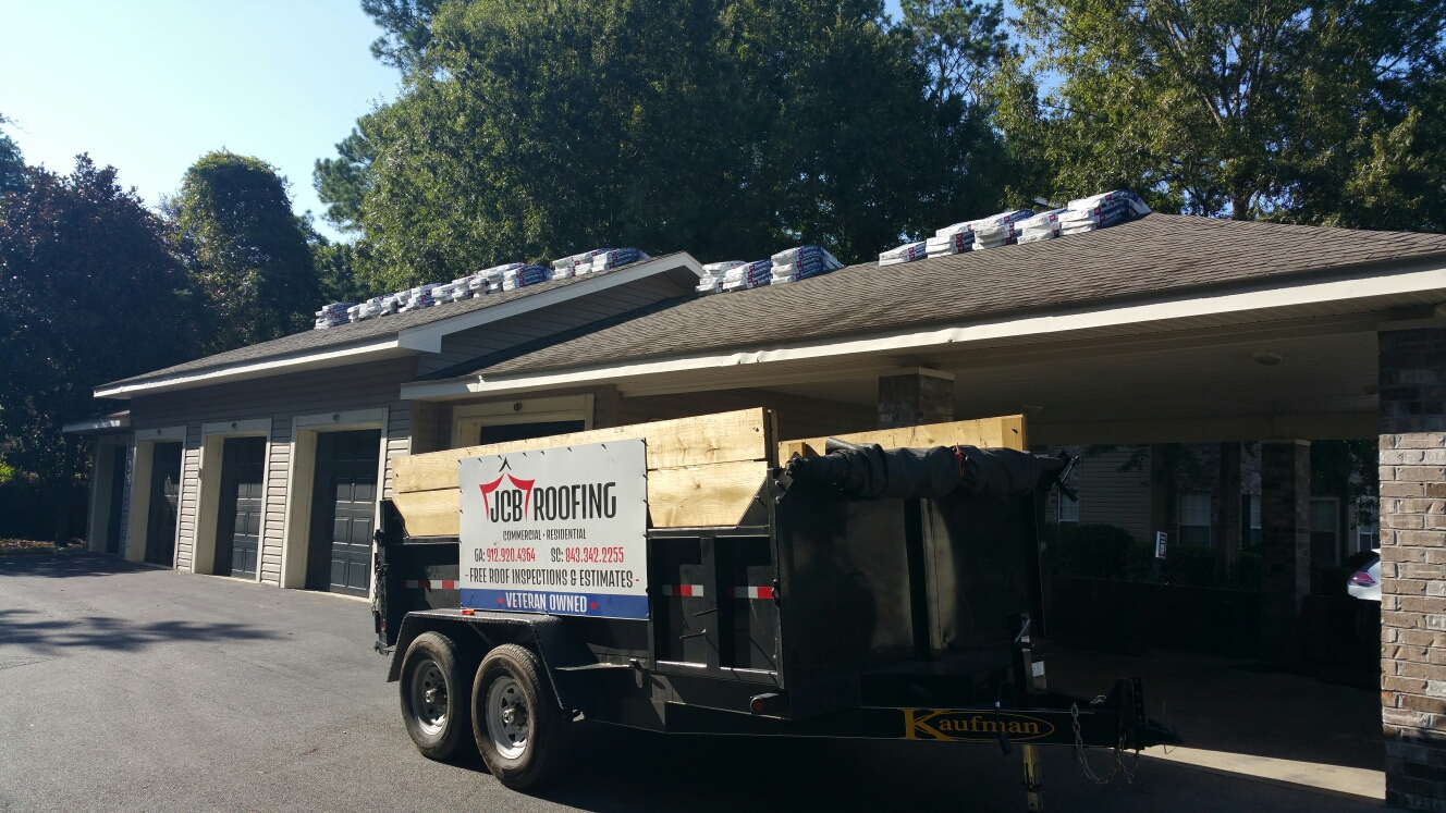 Savannah, GA - new roof installation at Hoover Creek Condos in savannah GA by local roofing company JCB ROOFING