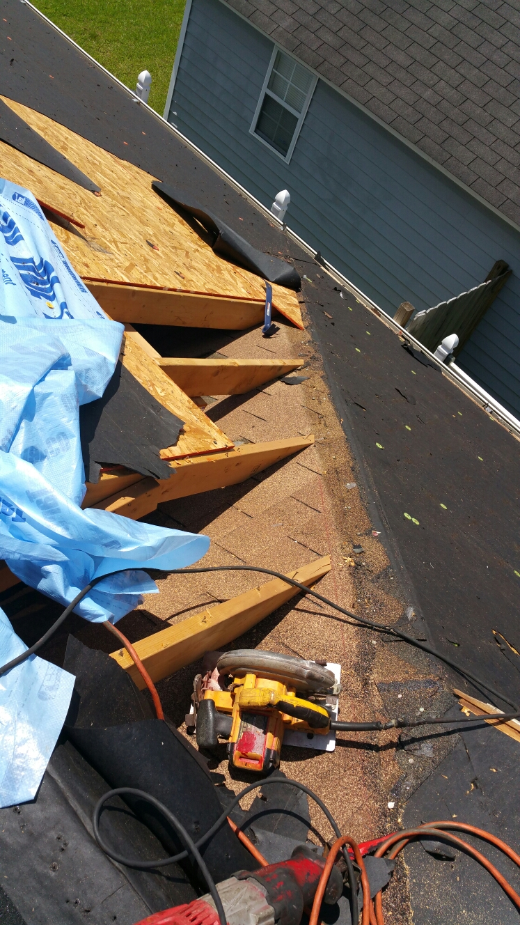 Savannah, GA - new roof installation in savannah GA by local roofing company JCB ROOFING and wood replacement
