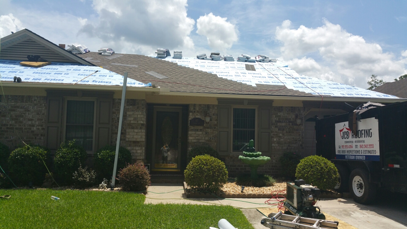 Savannah, GA - new roof installation in savannah GA by local roofing company JCB ROOFING