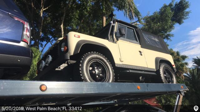 Southampton, NY - Loaded a 1997 Land Rover Defender in Palm Beach, FL and delivered it in Southampton, NY