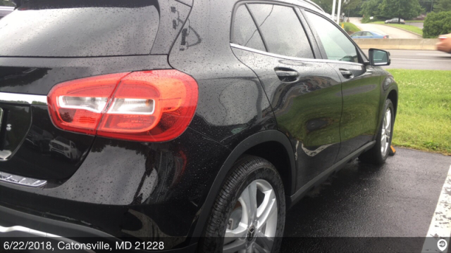 Greensboro, NC - Transported a 2018 Mercedes-Benz GLA250 from Catonsville, MD and delivered it to Greensboro, NC