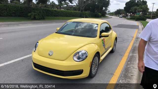 Kenilworth, IL - Transported a 2016 Volkswagen Beetle from Wellington, FL and delivered it to Kenilworth, IL