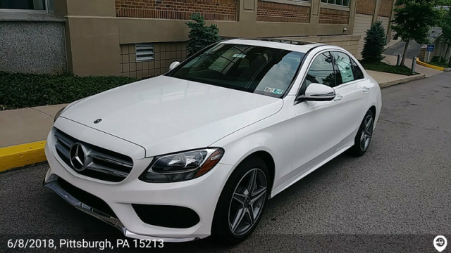 Doylestown, PA - Transported a 2018 Mercedes-Benz C300 from Pittsburgh, PA and delivered it to Doylestown, PA
