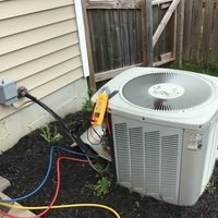 Etna, OH - Completed a Spring Tune-Up and Safety Checkout on a 2003 TRANE Furnace and a 2004 TRANE Air Conditioner. Replaced the 16x25x1 Pleated Filter for the furnace. Recharged system with 0.5 lbs of R-22 Freon.