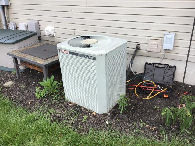 Canal Winchester, OH - Added Freon & Applied Easy Seal To Trane AC To Keep Trane AC Unit Running Efficiently For The Summer Season.