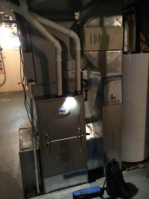 Lancaster, OH - Performed Our Special Tune-Up & Safety Checkout On Carrier  Gas Furnace To Keep Furnace Running Efficiently For The Fall/Winter Season