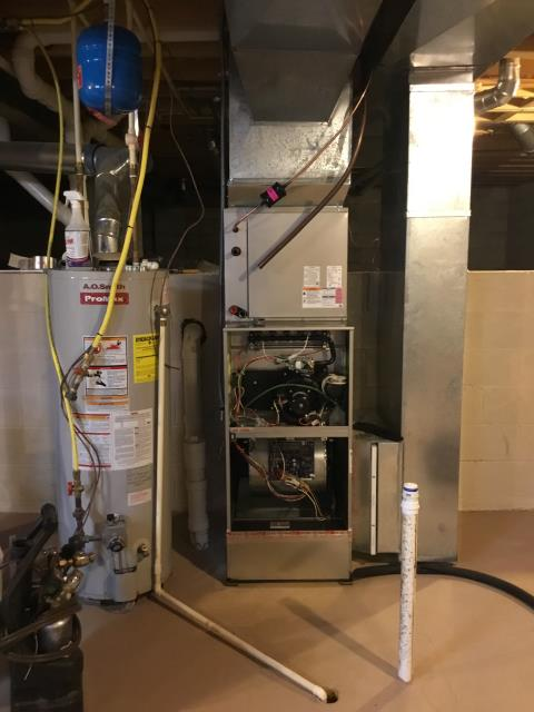 Blacklick, OH - Performed Our Special Tune-Up & Safety Checkout On Carrier  Gas Furnace To Keep Furnace Running Efficiently For The Fall/Winter Season