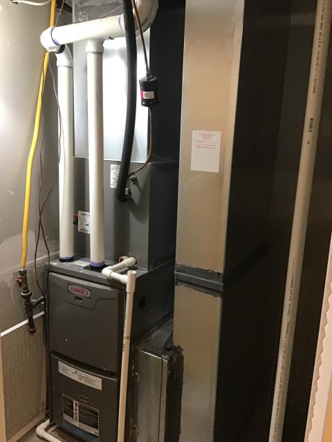 Etna, OH - Performed Our Special Tune-Up & Safety Checkout On Lennox Gas Furnace To Keep Furnace Running Efficiently For The Fall/Winter Season