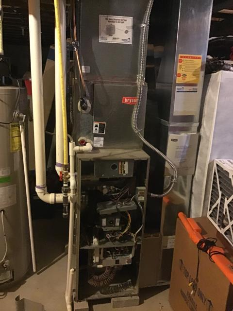 Westerville, OH - Performed Our Special Tune-Up & Safety Checkout On Bryant Gas Furnace To Keep Furnace Running Efficiently For The Fall/Winter Season