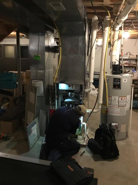Etna, OH - Diagnostic Service for Carrier unit. Tech adjusted blower speed to HIGH.  Fan speed was previously set to MEDIUM LOW.  Tech then adjusted the dampers throughout the basement to help direct airflow to the 2nd floor better. Instructed customer how to adjust them as well.