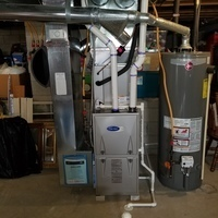 Groveport, OH - Replaced vent elbow kit on 2018 Carrier Furnace