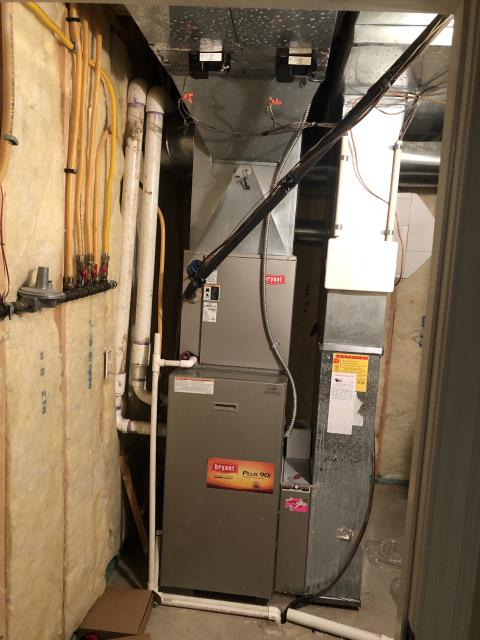 New Albany, OH - Diagnostic Performed Re-Wired Zone Wires On Bryant Gas Furnace To Keep Furnace Running Efficiently For The Winter Season