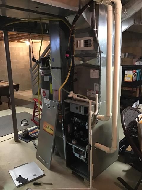 New Albany, OH - Performed Our Special Tune-Up & Safety Checkout On Bryant Gas Furnace To Keep Furnace Running Efficiently For The Fall/Winter Season