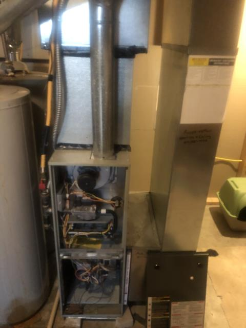 Groveport, OH - Diagnostic Performed Pulled & Cleaned Flame Sensor On Trane Gas Furnace To Keep Furnace Running Efficiently For The Winter Season