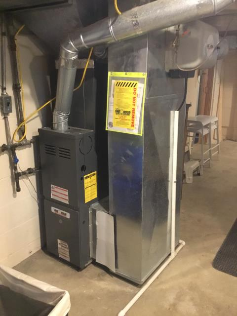 Westerville, OH - Performed Our Special Tune-Up & Safety Checkout On Goodman  Gas Furnace To Keep Furnace Running Efficiently For The Fall/Winter Season