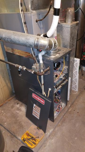 Lancaster, OH - Diagnostic Performed Cleaned Flame Sensor On Goodman Gas Furnace To Keep Furnace Running Efficiently For The Winter Season