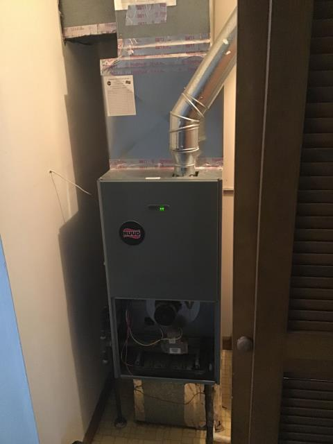 Columbus, OH - Diagnostic Performed Replaced Batteries On T-Stat To Keep Rheem Gas Furnace Running Efficiently  For The Winter Season