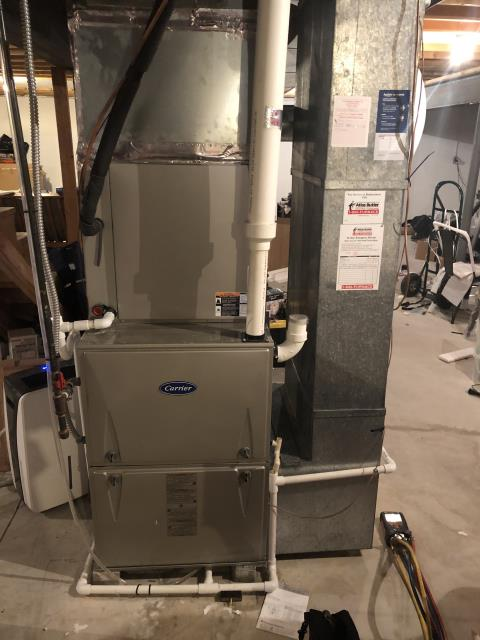 Pickerington, OH - Performed special tune up and safety check outs on carrier gas furnace. To get furnace running for the winter season.