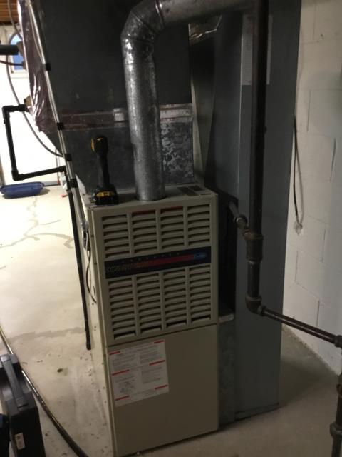 Canal Winchester, OH - Performed safety inspection and tuneup on a Carrier gas furnace. All components are functioning properly and up to manufacturer's specifications. The system is ready for heat for the winter season.