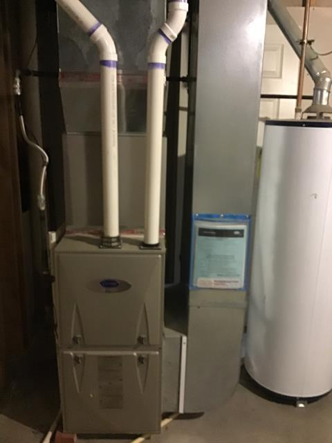 Pataskala, OH - Customer stated that their CO2 detectors went off. Ran first, and secondary combustion tests. Checked exhaust from outside in, there was no obstruction. Recommended not to run furnace. A senior technician will return to verify findings.
