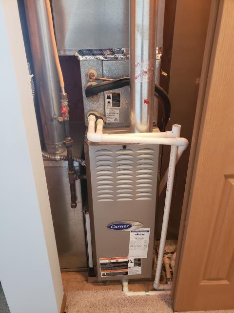 Hilliard, OH - Performed Our Special Tune-Up & Safety Checkout On Carrier  Gas Furnace To Keep Furnace Running Efficiently For The Winter Season