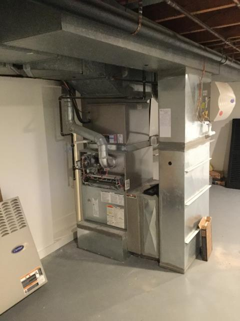 Westerville, OH - Diagnostic Performed Unclogged Humidifier Drain Line On Aprilaire Humidifier On Carrier Gas Furnace To Keep Furnace Running At Highest Performance For The Winter Season