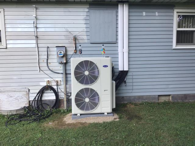Pataskala, OH - Diagnostic Performed Replacing Head & Removed Louvers Also Took Furnace Off From Swing Mode On Carrier Mini-Split Unit To Keep Furnace Running Efficiently For The Winter Season