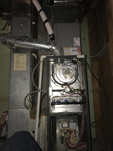 Reynoldsburg, OH - Performed Our Special Tune-Up & Safety Checkout On Goodman Gas Furnace To Keep Furnace Running Efficiently For The Winter Season