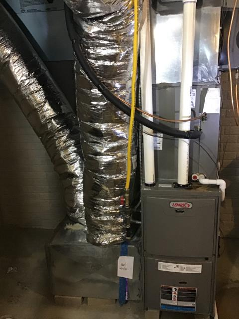 Lancaster, OH - Diagnostic Performed Replaced Thermostat Honeywell T1 On Lennox Gas Furnace To Keep Furnace Running Efficiently For The Winter Season