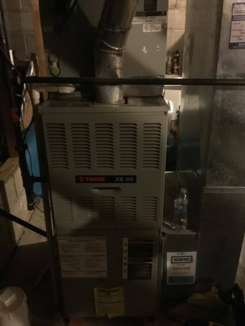 Lancaster, OH - Performed Our Special Tune-Up & Safety Checkout On Trane  Gas Furnace To Keep Furnace Running Efficiently For The Winter Season