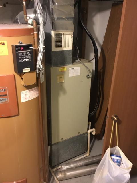 Reynoldsburg, OH - Provided estimate to replace Heat Pump for a 1500 sq ft condo. Current furnace is a Carrier electric unit. Pictured below is the furnace that is being replaced.
