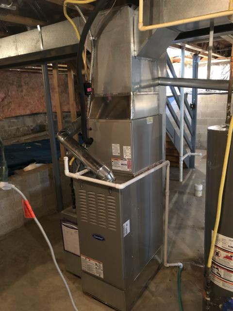 Blacklick, OH - Performed Our Special Tune-Up & Safety Checkout On Carrier Gas Furnace To Keep Furnace Running Efficiently For The Winter Season